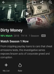 Dirty Money on Netflix
